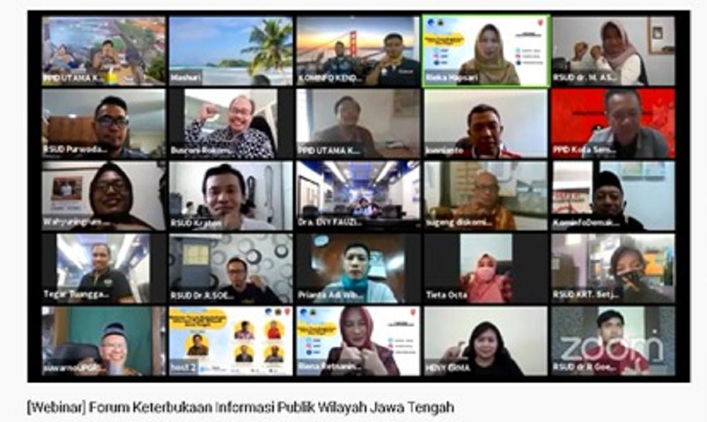 PPID Utama Temanggung Ikuti Webinar Forum KIP Wilayah Jawa Tengah